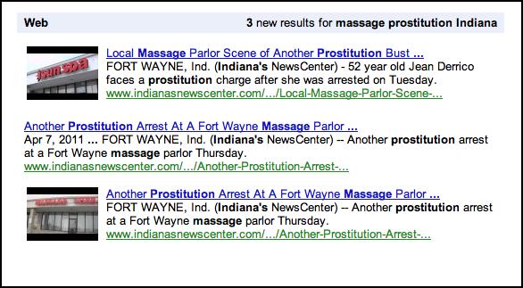 Google Alerts results